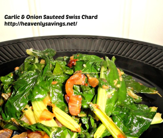 Garlic and Onion Sauteed Swiss Chard