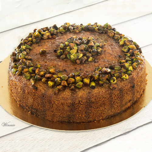 עוגת דבש עם סולת ופיסטוקים-חח