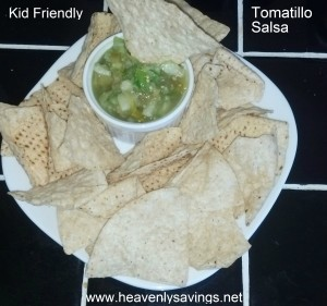 Kid Friendly Tomatillo Salsa! ~
