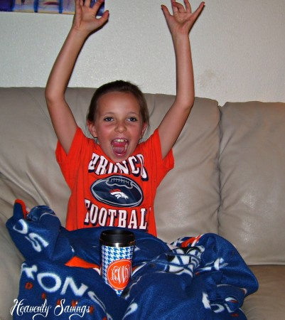 My daughter was using my 9thandElm.com tumbler when the Broncos Scored a Touch Down!