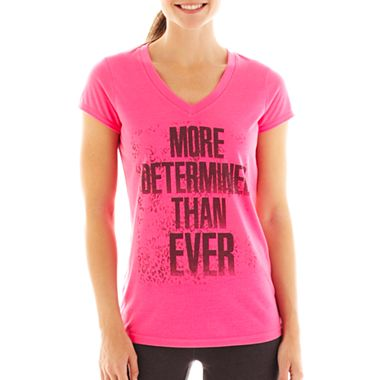 Xersion™ Short-Sleeve V-Neck Graphic Tee $9.99 (reg. $20)