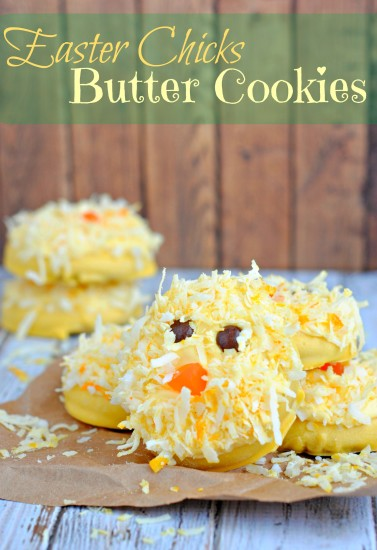 Easter Chick Butter Cookies