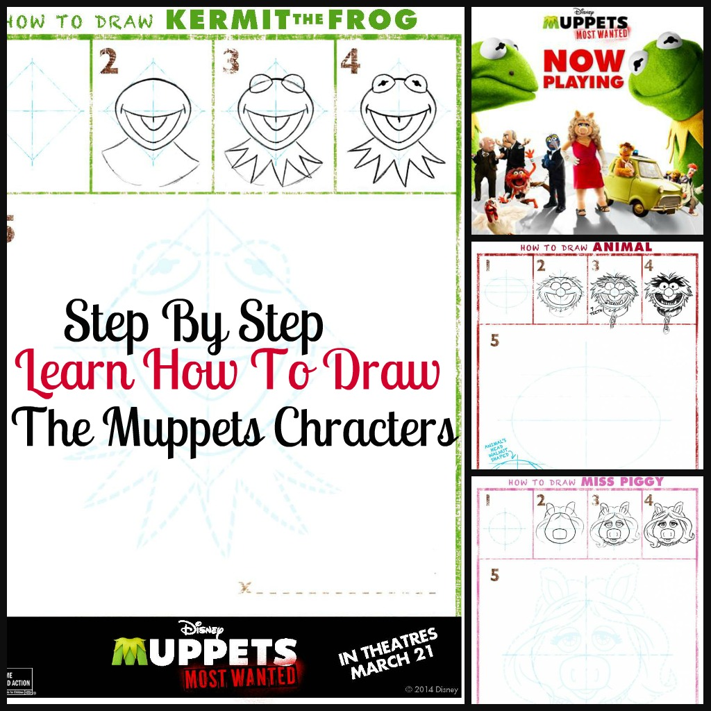 how to draw muppets step by step