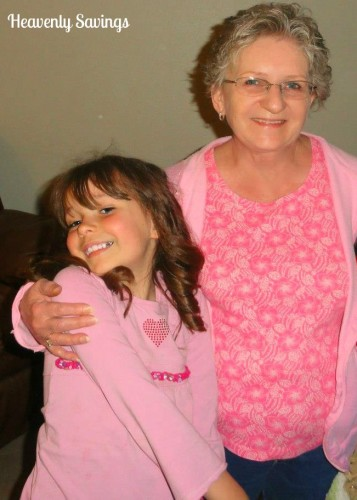 My daughter with her Great Grandma (my Grandma) during Easter last year.