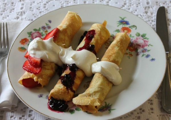 Breakfast Crepes three ways