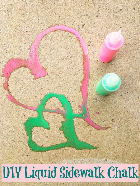 DIY Liquid Sidewalk Chalk