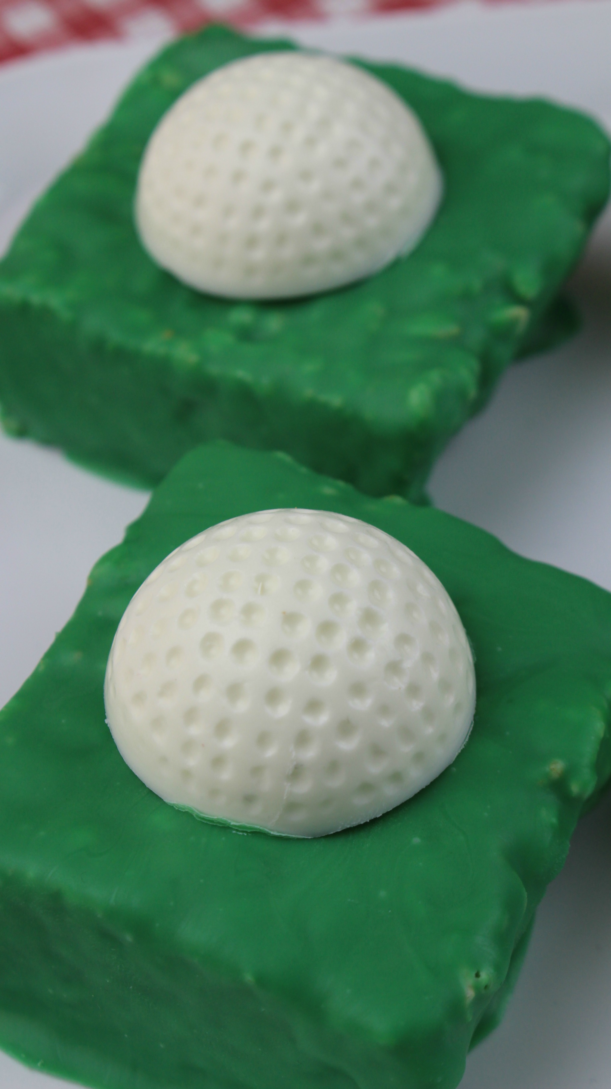 rice krispies golf ball treats for fathers day