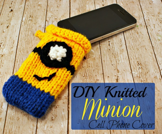diy knitted minion cell phone case